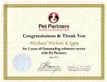 Iggy Pet Partners 2 year certificate